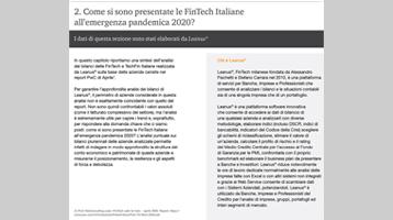 PWC: Italian FinTech Observatory 2020 – Update: Le FinTech alla prova del COVID-19