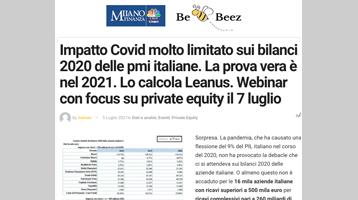 Impatto Covid molto limitato sui bilanci 2020 delle pmi italiane